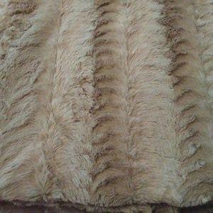 Cafe au Lait Bunny Soft All Sizes Faux Fur Blanket